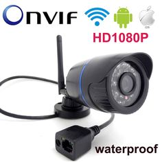 59.84$  Buy here - http://aliya1.shopchina.info/go.php?t=32751164205 - Onvif IP camera WIFI Megapixel 1080P cctv security system surveillance mini wireless cam infrared P2P weatherproof mini home  #buymethat