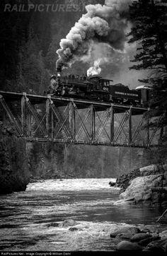 RailPictures.Net Photo: D 481 Durango & Silverton Narrow Gauge Railroad Steam 2-8-2 at Tacoma, Colorado by William Diehl