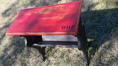 Littrell Inc original product. Industrialized Repurposed Distressed Table