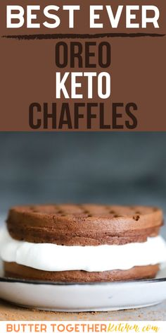 The BEST dessert chaffle you can make in minutes with three different types of frosting options! You will love how delicious this keto chaffle tastes! If you are looking for a healthy chocolate and creamy dessert you have got to try this! #keto #ketodessert #ketorecipes #recipes  #healthy #desserts Healthy Desserts, Fun Desserts, Delicious Desserts, Dessert Recipes, Oreo Filling, High Fat Foods, Thm Recipes, Healthy Chocolate, Frosting Recipes