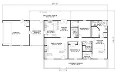 Country Home Floor Plan - Three Bedrooms | Plan #153-1744