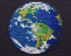 Solar System Planets Cross Stitch Patterns Set of 9 by StemStitch