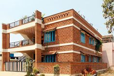 Brick House Plans, Brick House Designs, 20x40 House Plans, Simple House Plans, Bungalow House Design, Architecture Jobs, Persian Architecture, Vernacular Architecture, Arch House