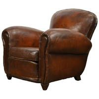 A comfortable #vintage leather club chair to lounge in...