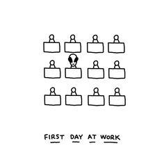 First day . . #firstday #firstdayatwork #work #illustration #alien #martian #javirroyo #office