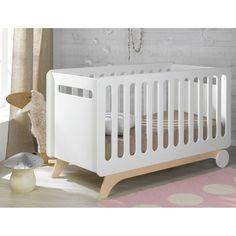 Gitterbettchen Bonheur weiß Sand 70 x 140 cm Baby Furniture, Cool Furniture, Rustic Baby Cribs, Wood Kids Toys, Toddler Cot, Newborn Bed, Baby Deco, Mini Crib, Childrens Beds