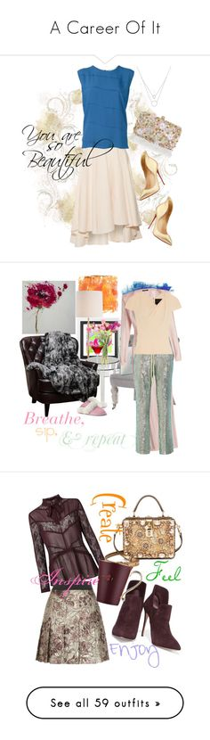 """""""A Career Of It"""" by april-wilson-nolen ❤ liked on Polyvore featuring Accessorize, Miguelina, 8PM, Christian Louboutin, Home Decorators Collection, Arteriors, NDI, Lands' End, Zentique and Harbor House"""