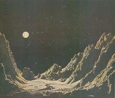 Chesley Bonestell - Lunar Surface.