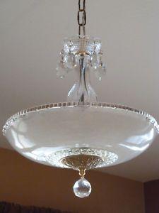 Antique Vintage Art Deco Chandelier Ceiling Light Fixture