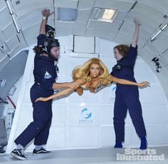 Turns out, boobs look awesome in zero gravity! Kate Upton, Sports Illustrated