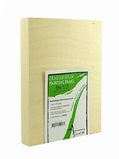 American Easel 1 5/8 in. Cradled Wood Painting Panels 9 in. x 12 in. [PACK OF 2 ]