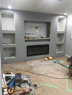 Placing Playbar in a recessed wall shelf Sonos C Tv Feature Wall, Feature Wall Living Room, Living Room Tv, Living Room With Fireplace, Tv Wall Ideas Living Room, Kitchen Feature Wall, Tv Wall Shelves, Tv Wall Cabinets, Recessed Shelves
