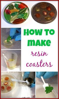 Tons of details and pictures --> How to make resin coasters