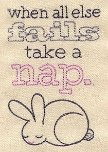 Embroidery Designs at Urban Threads - Take a Nap.... I SOOOOO need to put this on a pillow.