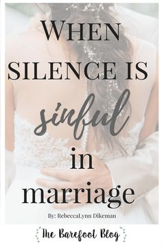 When Silence is Sinful