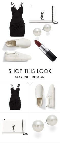 """""""Untitled #337"""" by fashion-with-dudette on Polyvore featuring Gap, Yves Saint Laurent, AK Anne Klein and MAC Cosmetics"""