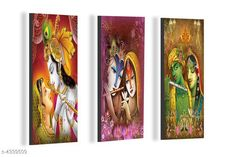 Paintings & Posters SAF Radha Krishna 6MM MDF Framed set of 3 Digital Reprint 15 inch x 18 inch Painting Material: MDF  Size- (L X W ): 36 cm X 45 cm Description: It Has 3 Pieces Of Wall Poster Work: Printed Country of Origin: India Sizes Available: Free Size   Catalog Rating: ★4.1 (6086)  Catalog Name: Navratri Multicolor Attractive Trendy Wall Posters Vol 5 CatalogID_622663 C127-SC1611 Code: 181-4339509-492