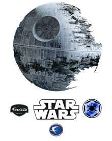 The Death Star Decal Will Make Any Room Cooler than It Was #uniquedecals #stickerdecals trendhunter.com