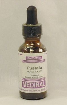 Natural Home Remedy for Inflammed Prostate | Pulsatilla Homeopathic by Mediral www.eVitaminMarket.com