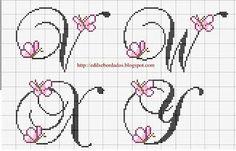 Monogramas com borboleta