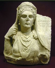 Funerary bust of a woman. Palmyra - Syria.