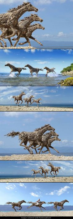 James Doran-Webb Created These Out Of Salvaged Driftwood