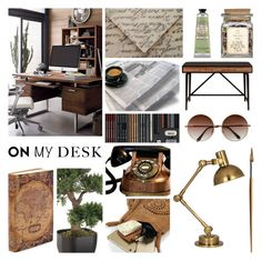 """On My Desk"" by leegal57 ❤ liked on Polyvore featuring interior, interiors, interior design, home, home decor, interior decorating, Currey & Company, L'Occitane, Robert Abbey and onmydesk"