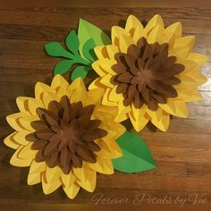 Pair of Large Paper Flower Wall