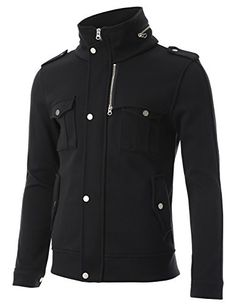 FLATSEVEN Mens Bomber Hoodie Jacket Zip up Button Stand Collar with Flap Pocket (JK403) Black, S FLATSEVEN http://www.amazon.com/dp/B00NIW0VQ0/ref=cm_sw_r_pi_dp_-af1ub0NXPESS
