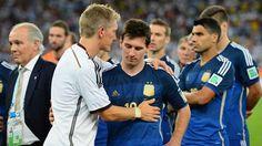 Schweinsteiger and Messi