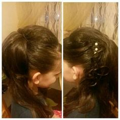 Side up hairstyle for party/occasions