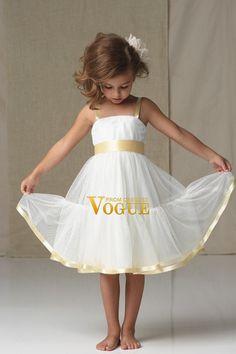 Hot Selling Flower Girl Dresses Ball Gown Straps Tea Length Organza USD 94.60 PXA84XRS