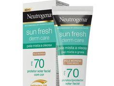 O que é: Protetor solar Sun Fresh Derm Care, da Neutrogena Neutrogena, Fresh, Flawless Skin, Sunscreen, Makeup Step By Step, Beauty