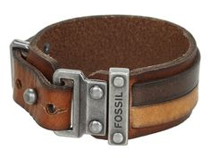 Fossil Casual Vintage Leather Bracelet Brown - Zappos.com Free Shipping BOTH Ways
