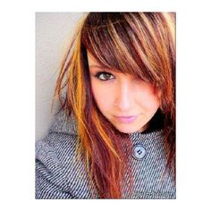 Lizzies Orange Highlights For My Story ❤ liked on Polyvore