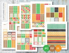 Free Monthly Printable Planner Stickers Set - School - Erin Condren