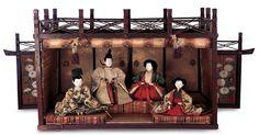A Fine Pretending Tea: 185 Japanese Grand Sized Yusoku-bina Palace and Imperial Family Japanese Toys, Japanese Art, Hina Dolls, Doll Display, Asian Doll, Japanese Culture, China, Asian Art, Decoration