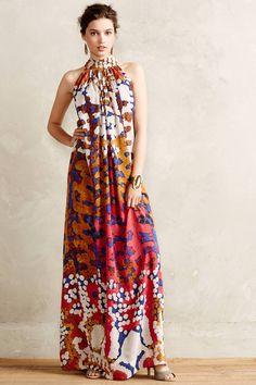NWT Anthropologie Lorna Silk Maxi Dress by Roopa Pemmaraju - Floral Size Fashion Moda, Boho Fashion, Fashion Dresses, Look Boho, Mode Inspiration, African Dress, Dress Me Up, Get Dressed, African Fashion