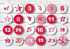 Adventskalender Zahlen Nr.7 Sternchen rot Sticker von B L E I B T S C ...