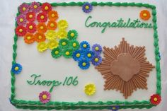 Girl Scout Bronze Award Cake~Is there anyone in Des Moines that could make this for me for the weekend of April 12th?????