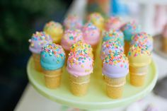 Cute treats at a ice cream birthday party! See more party ideas at CatchMyParty.com!