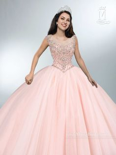 Create amazing memories in a Mary's Bridal Beloving Collection Quinceanera Dress Style 4694 at your Sweet 15 party or at any formal event. Tulle quinceanera ball gown with cap sleeves, scoop neckline, Pretty Quinceanera Dresses, Pageant Dresses, Ball Dresses, 15 Dresses, Homecoming Dresses, Ball Gowns, Evening Dresses, Fashion Dresses, Wedding Dresses