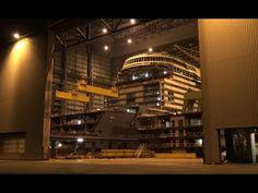 4K   Exklusiv OVATION OF THE SEAS Under Construction at Meyer Werft Ship...