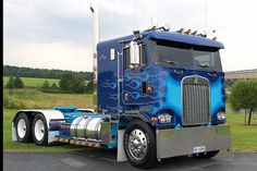 Kenworth Cab over Big Rig Trucks, All Truck, Semi Trucks, Cool Trucks, Diesel Cars, Diesel Trucks, Diesel Vehicles, Custom Big Rigs, Custom Trucks