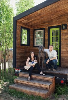 Articles about tiny house fits family 196 square feet. Dwell is a platform for anyone to write about design and architecture. Best Tiny House, Tiny House Plans, Tiny House On Wheels, Tiny House Living, My House, Fitness Before And After Pictures, Clad Home, Little Houses, Tiny Houses