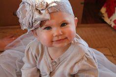 Bebé flor diadema diadema plata bebé bebé niña diademas