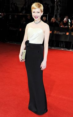 Michelle Williams at the 2012 BAFTA Awards