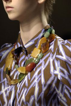 Chunky beaded necklace: Dries Van Noten Spring 2008 RTW