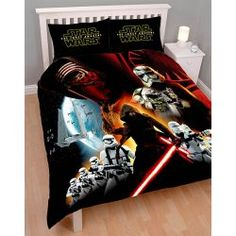 """Housse de couette Star Wars """"Le réveil de la Force"""" pour lit double 200x200 cm. #parurestarwars #couettestarwars #decostarwars"""