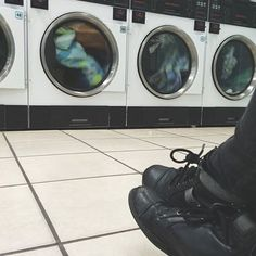 Nothing is as glamorous as it looks online. This is honestly just a laundry mat. I was washing my laundry